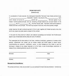 Free Printable Promissory Note Form Blank Promissory Note Templates 13 Free Word Excel