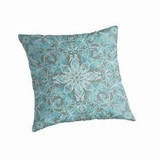 quot soft teal blue grey floral pattern quot throw