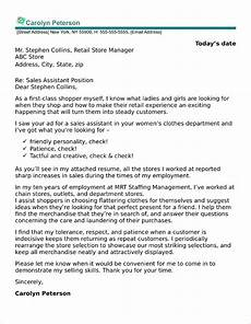 Sales Assistant Job Interview 40 Free Cover Letters For Sales And Marketing Jobs