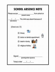 School Absence Note Template Free School Absence Information School Template School Notes