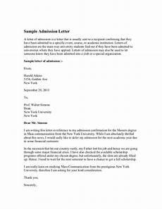 University Transfer Letter Sample Sample Admission Letter