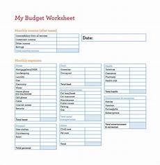 Free Worksheet Templates Budget Spreadsheet Template 12 Free Word Excel Pdf