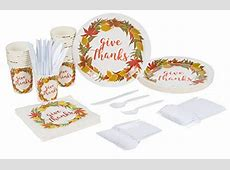Disposable Dinnerware Set   Serves 24   Thanksgiving Party
