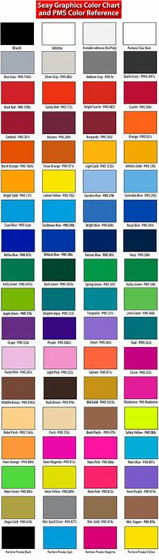 Ink Color Chart Ink Colors Pantone Chart