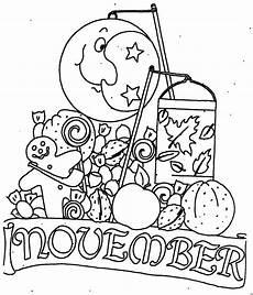 November Malvorlagen November Mit Mond Ausmalbild Malvorlage Monatsbilder