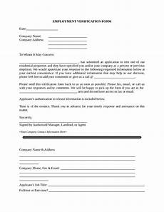 Proof Of Employment Templates 2020 Proof Of Employment Letter Fillable Printable Pdf
