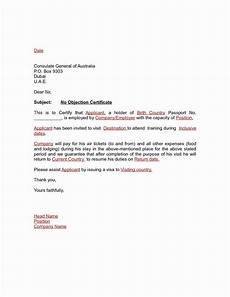 Sample Of No Objection Letter From Employer No Objection Certificate For Student Colona Rsd7 With