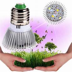 Types Of Light Bulbs For Growing Plants Garden Plant E27 18 28 Led Grow Light Bulb Full Spectrum