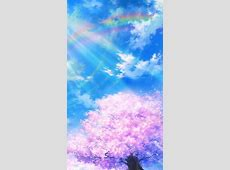 bd75 anime sky cloud spring art illustration wallpaper