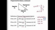 Trigonometry Ratios Inverse Trigonometric Ratios Youtube