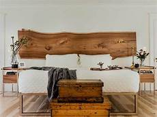 live edge headboard with bronze platform bed half crown