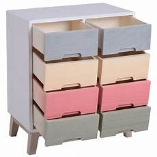 homcom wooden 8 chest of drawers cabinet storage cabinet