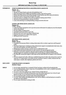 Operations Associate Job Description Hr Operations Associate Resume Samples Velvet Jobs