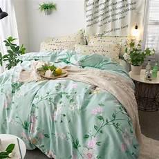 morden 100 cotton leaves flower quilt bedding sets 4 5pcs