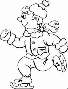 Malvorlagen Winter Gratis Froehlicher Junge Im Winter Ausmalbild Malvorlage Sport