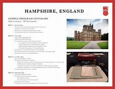 Examples Of An Itinerary Program Examples Brownell Incentive Travel