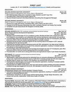 Free Resume Reviews Professional Ats Resume Templates For Experienced Hires
