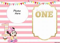 Minnie Mouse Invitation Template Free Free Printable Minnie Mouse 1st Invitation Templates Drevio