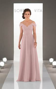 bridesmaid gowns the shoulder gown