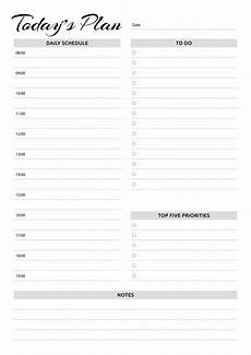 Hourly Daily Planner Free Printable Daily Planner With Hourly Schedule Amp To Do