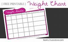 Weight Loss Charts To Print Printable Weight Chart