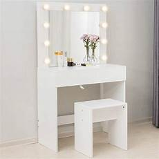 mecor makeup vanity table w 10 led lights mirror vanity