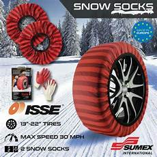 Isse Snow Socks Size Chart Isse Classic Snow Textile Tire Chains Socks Traction For