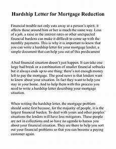 Hardship Letter Loan Modification Hardship Letter For Mortgage Reduction