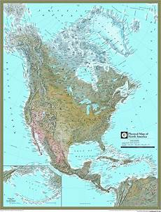 Geographic Map North America Physical Atlas Wall Map Maps Com