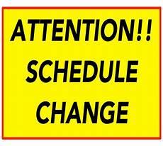 Date Change Sunday 11 12 2017 Schedule Change