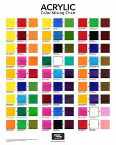 Ceramic Paint Color Chart Acrylic Color Mixing Chart Free Pdf Download Color