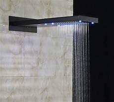 Wall Mounted Shower Lights Led Light Rain Waterfall Top Shower Head Wall Mount Over