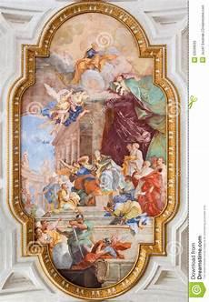 rome fresco on the vault of church chiesa di san pietro