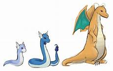 Pokemon Dragonair Evolution Chart Sketch Dratini Evolution By Nenufarazul On Deviantart
