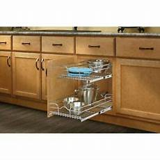 2 tier wire pull out drawer basket kitchen cabinet