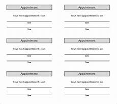 Appointment Cards Template Search Results For Free Appointment Cards Printable