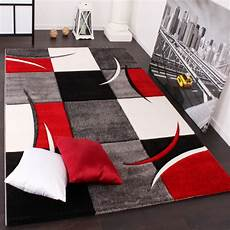 tappeti stati tappeto di design rosso nero grigio tapetto24