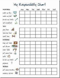 My Responsibility Chart Printable Charts For Picky Eaters Next On My Agenda Is A