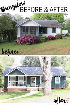 our bungalow exterior before after