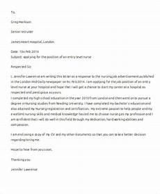 Entry Level Nursing Cover Letters Free 6 Nursing Cover Letter Templates In Ms Word Pdf