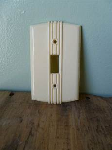 Home Hardware Light Switch Vintage Cream Art Deco Light Switch Cover Bell By