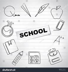 school education drawing paper stock vector 120200527