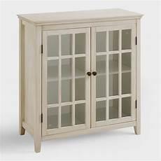 antique white door storage cabinet world market