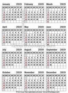 A4 Calendar Template Free A4 Calendar 2019 Template Calendar 2019 Template