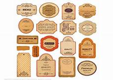 Label Paper Printable Vintage Labels With Old Papers And Ornaments