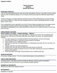 Personal Statement For Care Worker Support Worker Cv Example Icover Org Uk