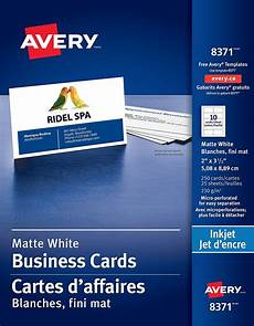 Avery Business Card Creator Avery Perforated Business Cards For Inkjet Printers