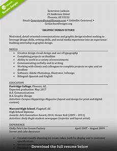 Graduate Internship Resume How To Write A Perfect Internship Resume Examples Included