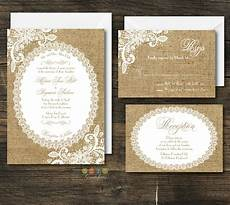 Burlap Wedding Invitations 100 Personalized Rustic Burlap Amp Lace Wedding Invitation
