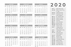 2020 Calendar Printable With Holidays Download This Free 2020 Printable Calendar With A Simple
